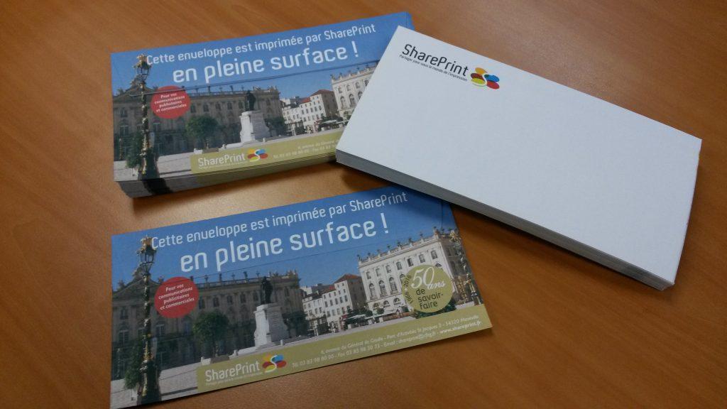 Vos enveloppes imprimées en pleine surface pour mieux vous différencier