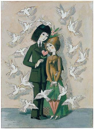 Les amoureux aux colombes. Peynet®
