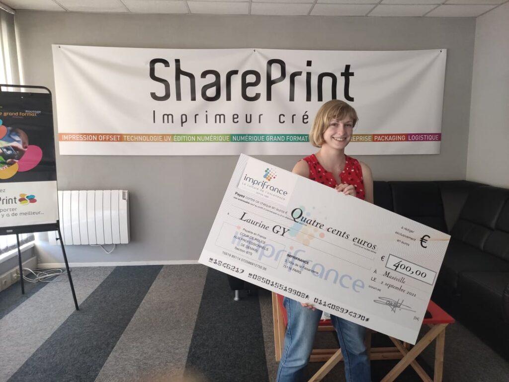 Remise de chèque chez SharePrint